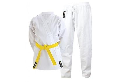 Cimac Giko Cintura Elástica Traje De Karate Uniforme Con Blanco Cinturón 110-200cm