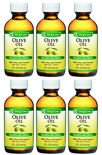 De La Cruz Pure Olive Oil, Non-GMO, Bottled in USA, 2 FL. OZ. (6 Bottles) (Best Grapeseed Oil In India)