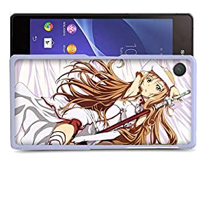 Case88 Designs Sword Art Online SAO Asuna Y?uki Protective Snap-on Hard Back Case Cover for Sony Xperia Z2