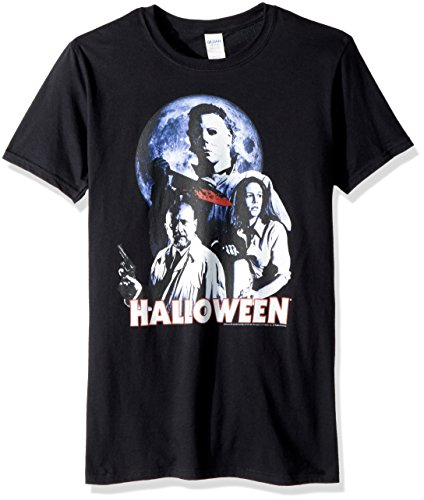 (American Classics Unisex Halloween The Movie Ensemble Adult Short Sleeve T-Shirt, Black)