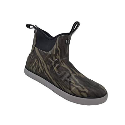 HUK Mens Rogue Rubber Water Wave Mid Boot, Adult: Clothing