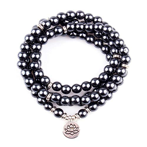 GVUSMIL 108 Mala Beads Wrap Bracelete Necklace Charm Healing Jewelry