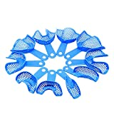 Superdental 10pcs Light Blue Impression Trays Autoclavable Centra Supply Tools