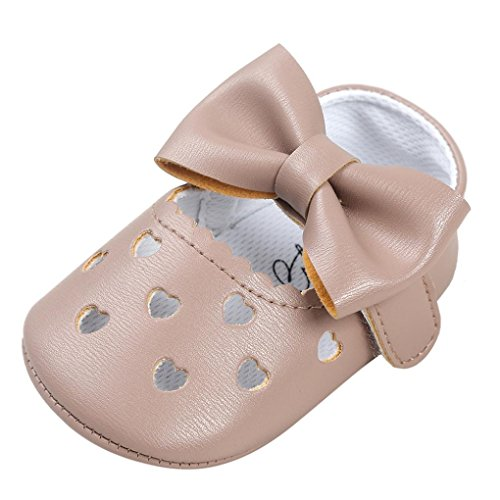 Voberry Baby Girl Moccasins Soft Hollow Out Bowknot Shoes Sneakers
