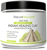 Acne Face Mask Diy Sodium Bentonite Indian Healing Clay, 16 oz. ~ 100% Pure Powder ~ Use as a Deep Cleansing, Detox Mask / Mud Pack for Blemishes and Clogged Pores ~ All Natural, Made in the USA, GMO Free