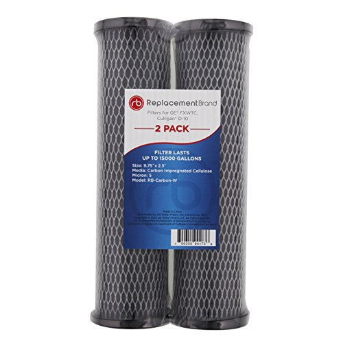ReplacementBrand RB-Carbon-W Comparable Filter for the GE FXWTC and Culligan D-10 Model, 2-Pack