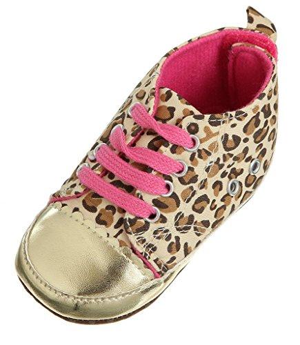 EOZY 1 paar unisex Baby Kinder Schuhen Babyschuh f眉r 12-18 Monaten Baby leopard aus weichem Leder f眉r Fruhling gelb