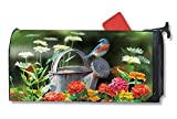 Mailwrap Garden Bluebird by the Dozen Large Mailbox Cover, Multi, 8'' x 21''