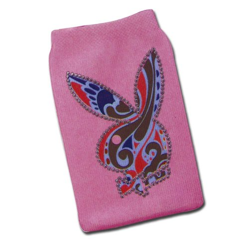 PLAYBOY ipod/Cell Phone Sock Holder with O Strap (Pink) (Pink Ipod Sock)