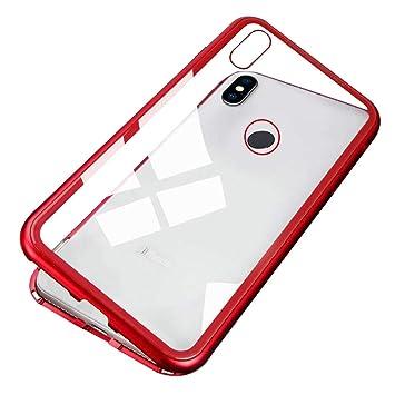 Funda Xiaomi Pocophone F1,Funda de Adsorción Magnética Ultra Delgada Dura Cristal Macaron Diseño Carcasa Protectora con[Vidrio Templado] Anti-arañazos ...