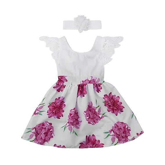 AIni Vestido De Verano Princesa Bebé Vestido De Encaje ...