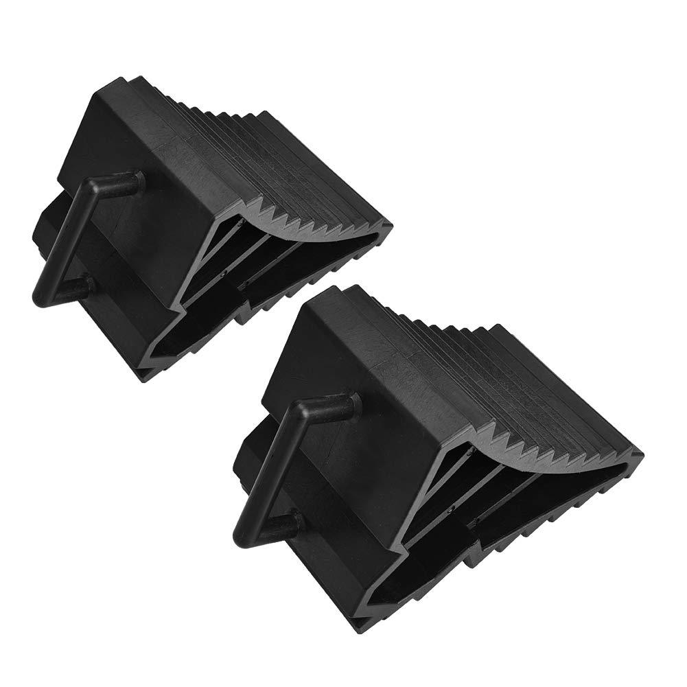 EBTOOLS 2Pcs Cales de Roue Cales Roues en Plastique Cales pour Roue de Voiture
