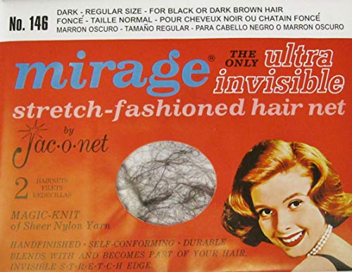 Mirage Dark Regular Size The Only Ultra Invisible Stretch-Fashioned Hair Net 6 Nets (3 packages) (Nets Hair Mirage)