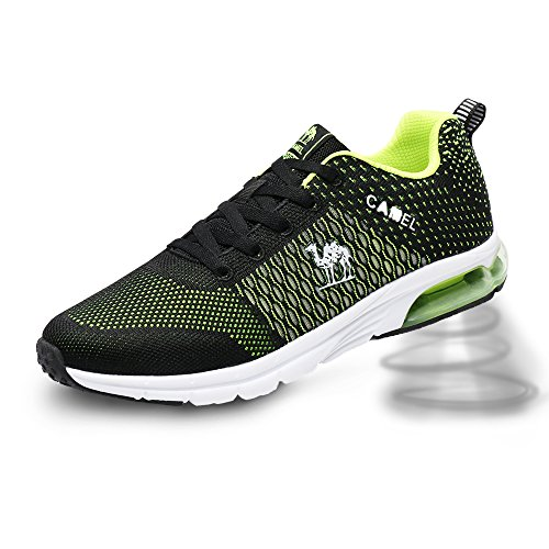 CAMEL Mens Cushioning Running Shoes Fashion Sneakers Air Cushion Casual Lightweight Breathable Athletic Walking Shoes