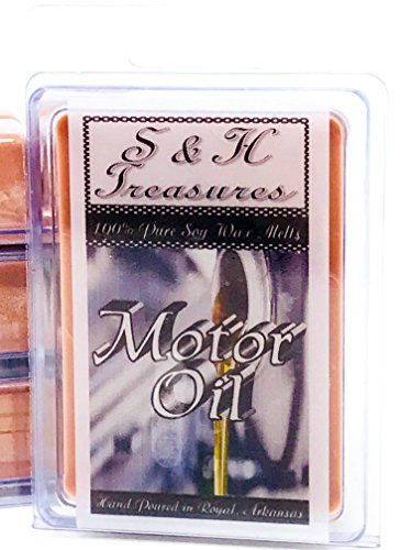 Motor Oil - Pure Soy Wax Melts - Masculine Scents - 1 pack (6 - 2 Air Day Usps