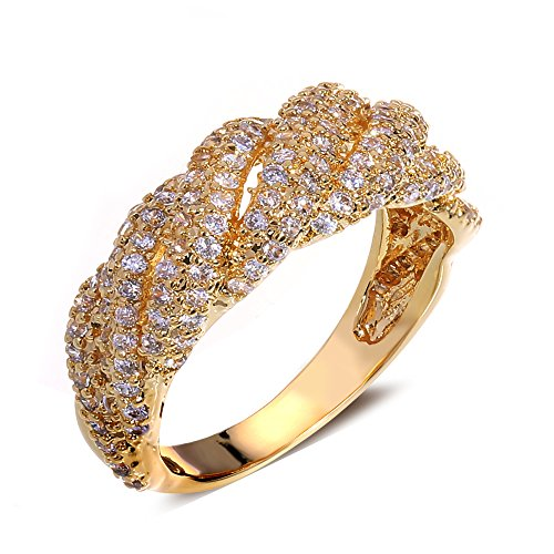 Tiffany Bangle Ring - GDSTAR rings for women gold plated with cubic zircon Rings Lord of the ring Bangle Ringring9 9.0