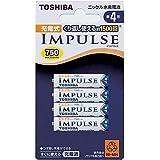 TOSHIBA ニッケル水素電池 充電式IMPULSE 単4形充電池(min.750mAh) 4本 TNH-4A 4P