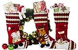 """3 Pcs Set - Classic Christmas Stockings 18"""" Cute Santa's Toys Stockings - 3D"""