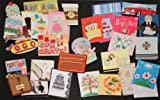 30 Handmade All Occasion Greeting Card Assortment with Decorative Reusable Organizer Box