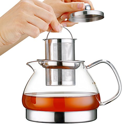 Toyo Hofu Clear High Borosilicate Glass Teapot with Removabl