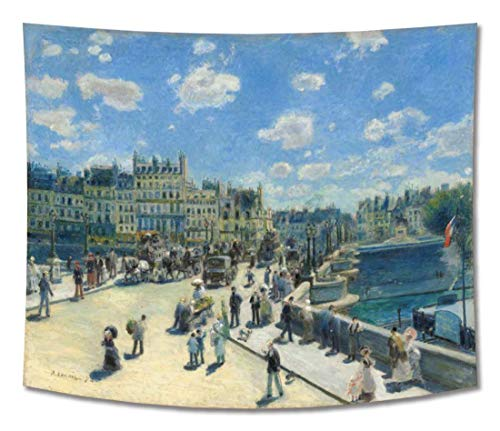 LIJIANG Print Hanging Wall Tapestry Wall Blankets Wall Decor –Pierre–Auguste Renoir – Pont Neuf Paris– 200X150 cm (Approx. 80X60 inch) – City Scapes Reproductions Prints
