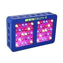 MEIZHI Reflector-Series 300W 450W 600W 900W 1200W LED Grow Light Full Spectrum for Indoor Plants Veg and Flower - Dual Growth Bloom Switch Daisy Chain (300 watt)