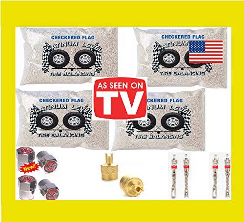 Checkered Flag Tire Beads Tire Balance Beads 4-8oz Tire Balancing Beads Kit, 33x12.50r15 33x12.50r16 33x12.50r17 33x13.5r15 33x13.50r16 33x13.5r17