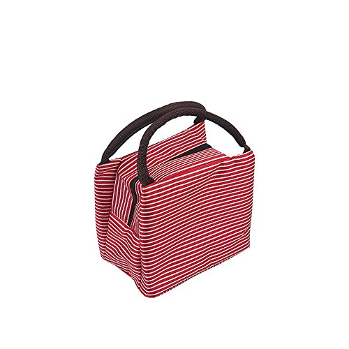 Bath Case Pack - AIMTOPPY Lunch Bag, Handbag Striped cold insulation bag thickened lunch bag ice pack students portable waterproof lunch box bag (red, free)