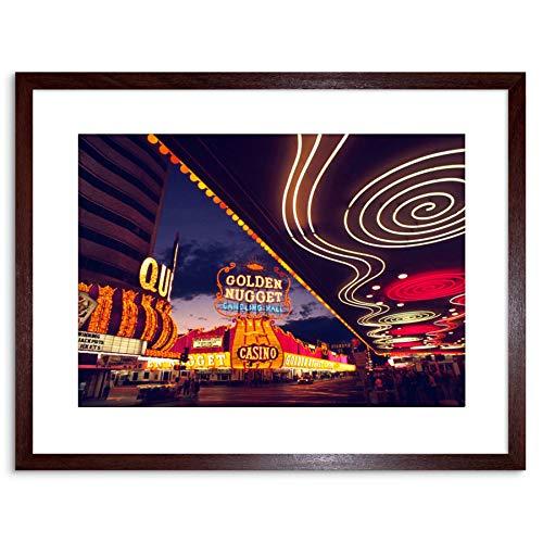 Photo Cityscape Las Vegas Neon Nevada Casino Framed Wall Art Printの商品画像