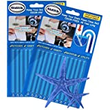 Sidith Clean Sticks 24 Pcs/2Pack Keeps Drains &Pipes Clear And Odor Free As Seen On TV Sewer Detergent Stick Detergent Toilet Kitch (blue FBA)