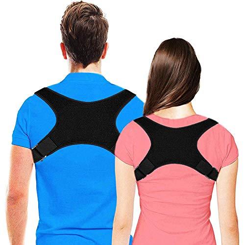 Yomitek Back Posture Corrector for Women & Men-Comfortable Upper Back Brace,Back Support Adjustable Corrector Brace for Improving Kyphosis,Slouching& Hunching Posture-Relief Back & Shoulders Pain