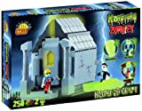 Monsters vs Zombies haunted crypt with glow in the dark figures, building bricks