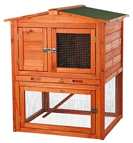 TRIXIE Pet Products Rabbit Hutch with Peaked Roof, Small - 2 Rabbits