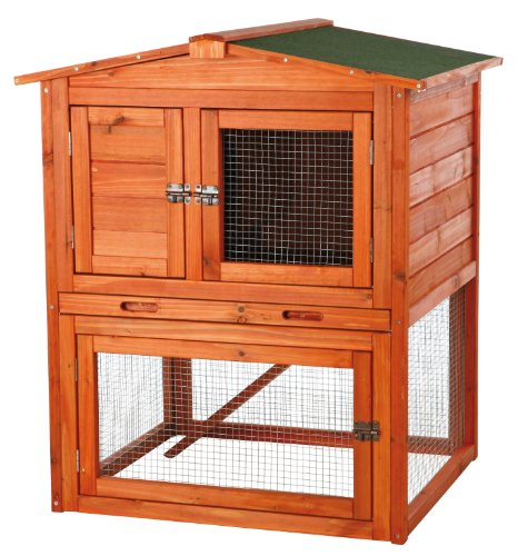 (Trixie Pet Products Rabbit Hutch with Peaked Roof, Small)