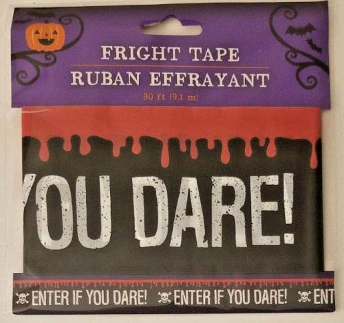 Halloween Fright Tape 30 ft ENTER IF YOU DARE! -