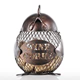 Tooarts Metal Chick Wine Barrel Cork Container Cage Craft Handmade Practical Gift Home Decor Coffee