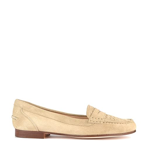 Elia B Zapatos Weave Mocasines de Ante, Mujer 39 EU Beige: Amazon.es: Zapatos y complementos