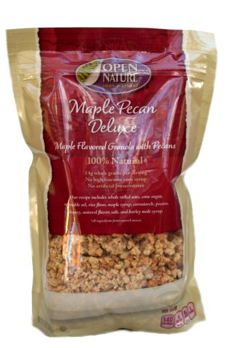Open Nature 100% Natural, Maple Pecan Deluxe Granola Cereal, 12 Ounce Bags, (Maple Pecan Cereal)