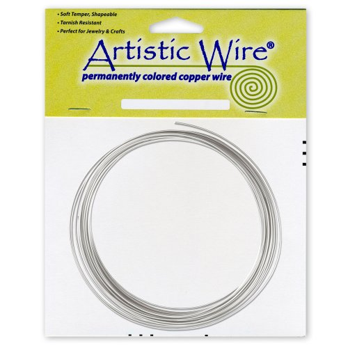 Artistic Wire 16-Gauge Tinned Copper Coil Wire, - Wire Colored Copper Permanent