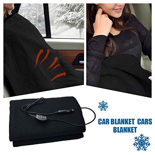 Smartey Heated Blanket - 12V Heating Blanket Accelerated Heating Thermostat Car Cashmere Worsted Cloth Heating Blanket
