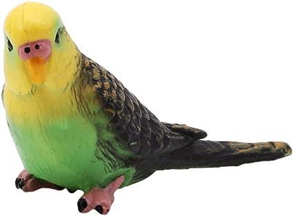 Yard Ornament  Feather Parrot Miniature  Simulation Bird Animal Figurine