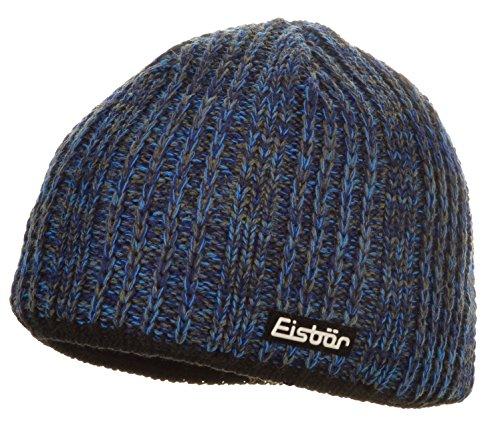 Eisbär - Gorro de punto - para hombre col.028 blau/schwarz