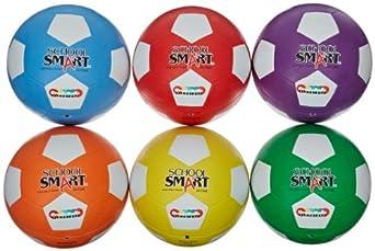 School Smart Soccer Balls - Size 5 - Set of 6 Colors