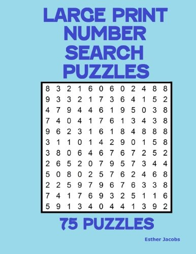 Large Print Number Search Puzzles: 75 puzzles PDF
