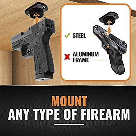 amazon com ironclad rubber coated gun magnet mount anywhere noamazon com ironclad rubber coated gun magnet mount anywhere no scratch gun holder for car, desk, bedside, office easy to install gun clip magnet for