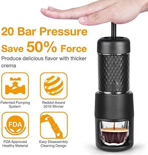 Quick Froid Brew Tout en Un Noir Brillant STARESSO Machine /à caf/é avec Expresso Cappuccino