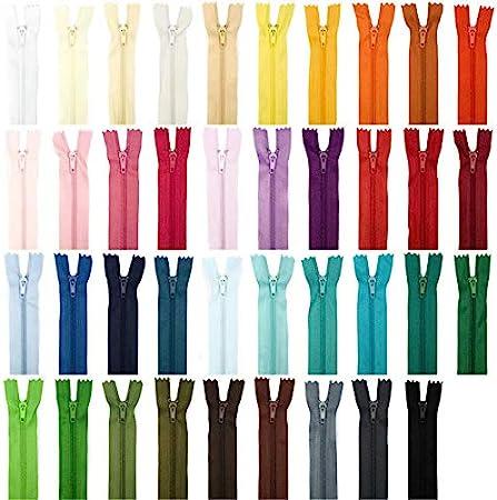 Zip// Fermeture éclair simple non séparable de 25 cm Couleur Turquoise