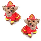 Dog Costume - FIREMAN COSTUMES - Dress Your Dogs As a Fire Man(Size 3)