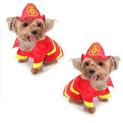 Dog Costume - FIREMAN COSTUMES - Dress Your Dogs As a Fire Man(Size -