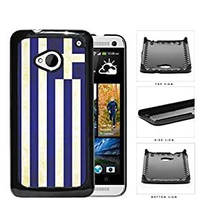Greece Flag Blue White Stripes Grunge Hard Snap on Phone Case Cover Android HTC One M7